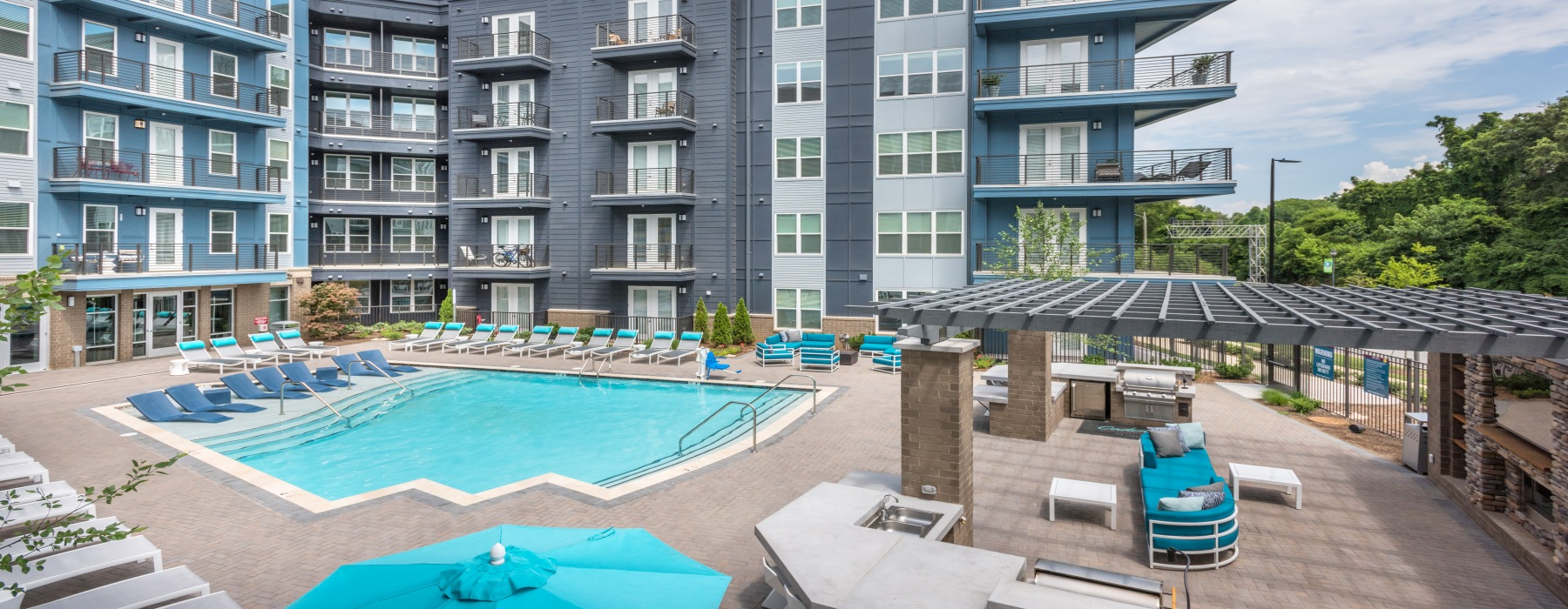 Pool at new Charlotte apartment